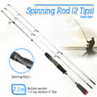 Carbon Fishing Rod Spinning Casting Lure Rod Saltwater Freshwater Pole 1.8M 2.1M