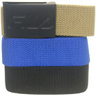 Fila Men's 3-in-1 Web Pack Golf Belts, Cut To Fit up to Size 42