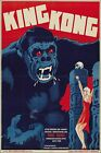 Poster, Many Sizes; King Kong 1933 Danish Movie Poster