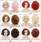 """Top Quality! 10"""" Front Lace pink red brown heat resistant synthetic hair wig"""