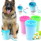 Pet Dog Cat Paw Washer Clean Foot Wash Cleaning Tools Soft Plastic Brush Cup New