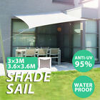 UV-resistant Sun Shade Sail Fabric Outdoor Canopy Patio Pool Garden Awning Cover