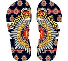 ROYAL CORP OF TRANSPORT Printed Flip Flops