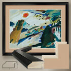 """40W""""x32H"""": ROMANTIC LANDSCAPE by WASSILY KANDINSKY DOUBLE MATTE, GLASS and FRAME"""