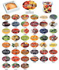 Food Flavor Labels 1.25' x 2' 500 labels per roll Stickers- Large Variety to Buy