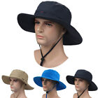Men's Wide Brim Sun Hats Outdoor Sport UV Protection Fishing Hiking Hunting Caps