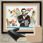 """40W""""x32H"""": FROM RUSSIA WITH LOVE JAMES BOND 007 - DOUBLE MATTE, GLASS $250.0 USD on eBay"""