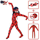 US Girls Miraculous Ladybug Costume Marinette Jumpsuit Mask Bag