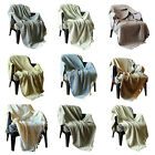 Reversible Throw Blankets For Sofa and Couch Home Decor Throws Travel Blanket image