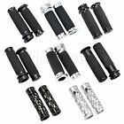 Chrome Black Handle Bar Hand Grips Fit for Harley Electra Road Street Glide XL image