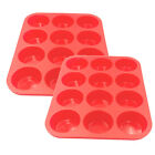 12/24Cups Silicone Muffin Cupcake Baking Pan Kitchen Cake Mould Microwave Moulds