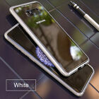 Magnetic Adsorption Metal Tempered Glass Case Cover Samsung Galaxy S9 S8 S7 Plus