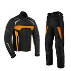 Motorcycle Motorbike Armoured Racing Suit Waterproof Textile Jacket Trouser Pant