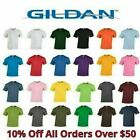Gildan Mens T Shirts 5000 Solid Heavyweight Cotton Short Sleeve Blank Tee S 3XL