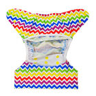 ALVABABY Baby Cloth Diapers Covers Reusable Waterproof Newborn Fitted Bamboo