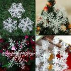 15/30/60Pcs Classic White Snowflake Ornaments Christmas Holiday Party Home Decor