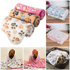 Large Pet Blanket Flannel Elephant Puppy Paw Print Mat Dog Cat Warm Soft Pad US