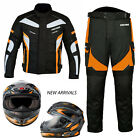 Motorbike Suit Helmet Motorcycle Textile Waterproof Suit Full Face Helmet Racing
