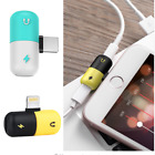 APPLE IPHONE X,8,7 PLUS Capsule Double for Light ning Audio Adapter