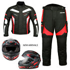 Full Face Motorbike Motorcycle Scooter Helmet Biker Racing Suit Jacket Trouser