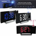 Mpow 5 Projection Alarm Clock FM Radio Digital Alarm Clock W/ Dual Alarm USB