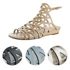 Vince Camuto Illana Women's Leather Strappy Slingback Caged Sandal Shoes