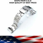 Fits Seiko Bracelet 20mm or 22mm Curved Stainless Diver Lock Clasp Band image