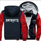 New England Patriots Hoodie Zip up Jacket Coat Winter Warm Black and Gray on eBay