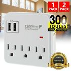 Внешний вид - Multi 3 Outlet 2 USB Port Wall Tap Surge Protector Adapter Charger Power Strip