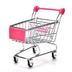 1X Dark Miniature Metal Grocery Shopping Cart/ Doll Size/ Home Decoration Sq