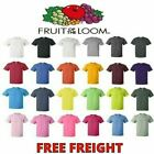Fruit of the Loom Mens T-Shirts HD 100% Cotton Short Sleeve Tee S-6XL 3930 image