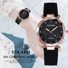 Fashion Women's Casual Quartz Leather Band Starry Sky Watch Analog Wrist Watch image