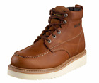 "WOLVERINE W08288-M WORK WEDGE 6"" MOC TOE Mn´s (M) Tan Leather Work Boots"