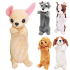 Cartoon Students Plush Dog Pencil Case Makeup Child Bag Pouch Zip Purse New