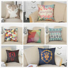 Cotton Linen Square Pillow Case Home Decorative Sofa Waist Throw Cushion Cover image