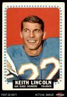 1964 Topps #164 Keith Lincoln Chargers VG/EX $11.0 USD on eBay