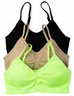 Neon Bralette with Removable Pads 1 or 3 Pack