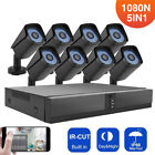 8CH AHD 1080P HDMI CCTV Camera Security System Outdoor Night Vision Video DVR