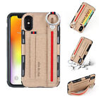For Apple iPhone 10 X Leather TPU Shockproof Protective Back Case Cover Skin