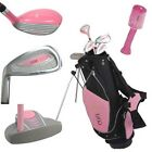 Golf Girl LEFTY Junior Club Youth Set for Kids w/Pink Stand Bag