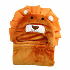 Cartoon Animal Baby Soft Blanket Hooded Bathrobe Cloak Cape Kids Infant Towel