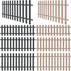 Outdoor WPC Picket Fence Panels Portable Display Barrier Brown/Grey 3 Sizes UK