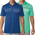 Adidas Golf Men's Essentials Textured Stripe Polo Shirt,  Brand New