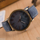 Retro Watch Cowboy Leather Band Analog Quartz Men Women Simple Wrist Watches  image