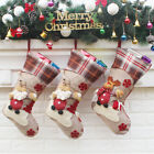 Personalised Embroidered Christmas Stocking Luxury Nordic Sack Santa Elk Decor