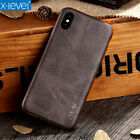 Genuine X-Level Vintage Leather Slim Back Case Cover For iPhone X Xs Max XR 7 8+
