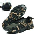 Mens Camo Breathable Cap Safety Work Shoes Mesh Sneakers Hiking Sports Lace Up