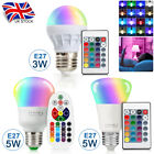 16 Color Magic Changing 3W 5W E27 RGB LED Light Bulb Lamp With Remote Control