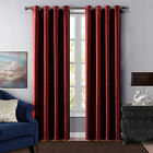 1PC Insulated Foam Lined Heavy Thick Blackout Grommet Window Curtain Panels KK92