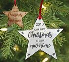 New Home Christmas Tree Bauble Xmas Gift Housewarming Decoration Star Ornament